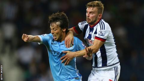 Action from West Brom v Manchester City earlier this season