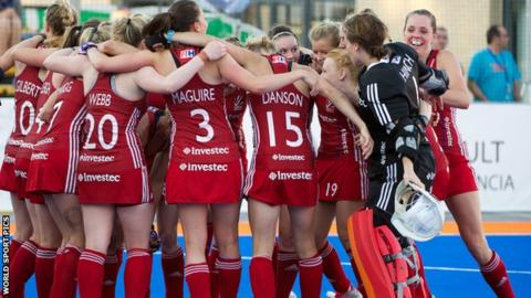 Great Britain women celebrate Rio qualification