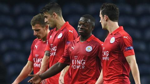 Leicester players after 5-0 defeat