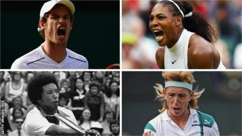 Andy Murray, Serena Williams, Arthur Ashe, Martina Navratilova