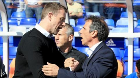 Gianfranco Zola's Birmingham City were beaten 2-1 by his Blues predecessor Gary Rowett's Derby County on Saturday at St Andrew's