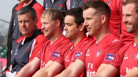 Ashley Giles and Lancashire team