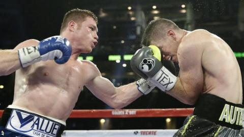 Saul Alvarez and Liam Smith