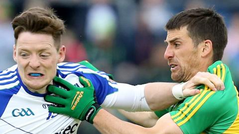 Monaghan's Conor McManus and Donegal's Paddy McGrath