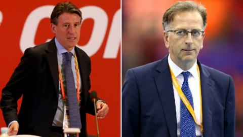 Lord Coe and Ed Warner