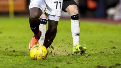 The Tynecastle surface has cut up badly in recent weeks