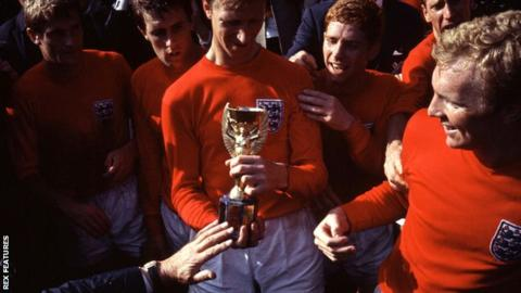 England celebrate winning the 1966 World Cup