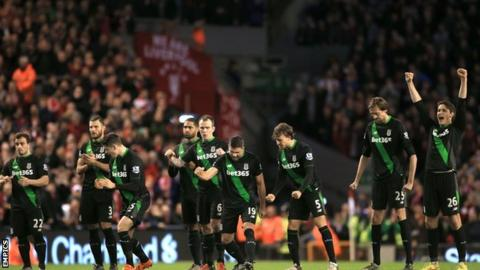 Stoke's League Cup semi-final second leg win against Liverpool at Anfield in January so nearly provided the high point of their season, only for the Potters to be beaten on penalties