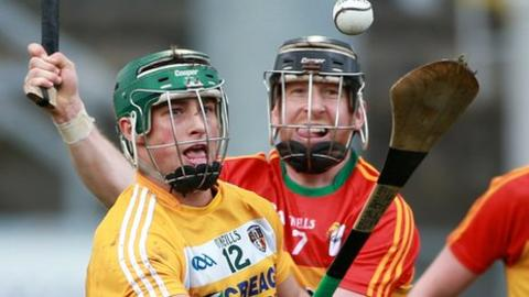 Conor Johnston was in action for Antrim against Carlow