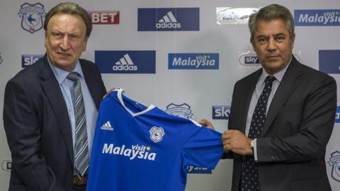 Neil Warnock and Mehmet Dalman