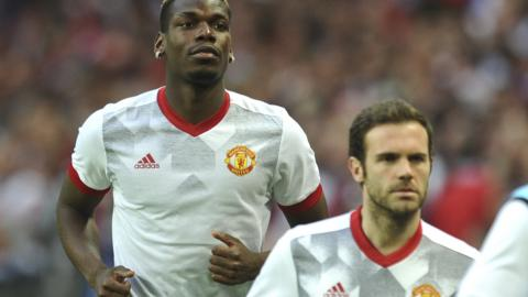 Paul Pogba and Juan Mata
