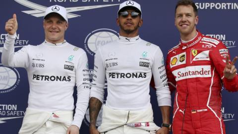 Bottas, Hamilton, Vettel