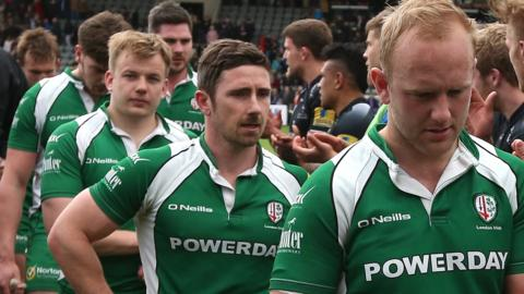 London Irish walk off after defeat at Newcastle
