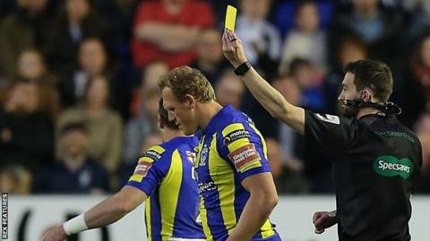 Ben Westwood shown the yellow card