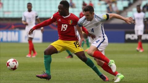 England own-goal gives Guinea 1-1 draw at U20 World Cup