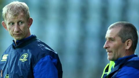 Leo Cullen (left) and Stuart Lancaster (right) guided Leinster to the semi-finals of the Champions Cup and Pro12 this year