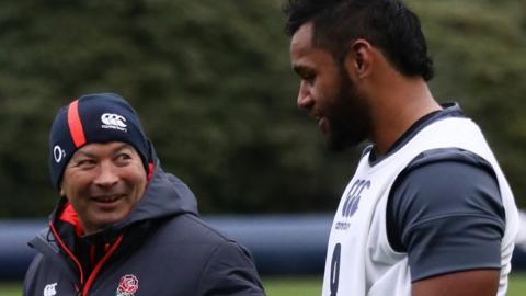 England head coach Eddie Jones and Billy Vunipola