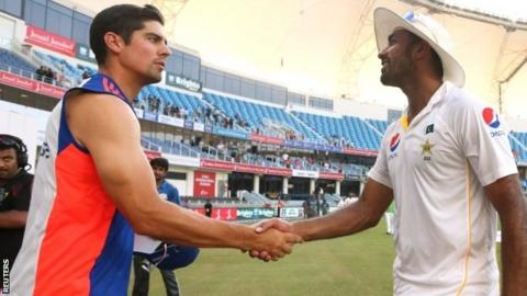 Alastair Cook & Wahab Riaz