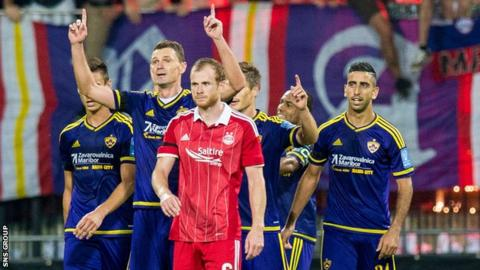 Aberdeen lost out narrowly to Maribor in Europa League qualifying last season