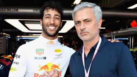 Mourinho with Ricciardo