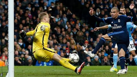Man City draw against Real Madrid