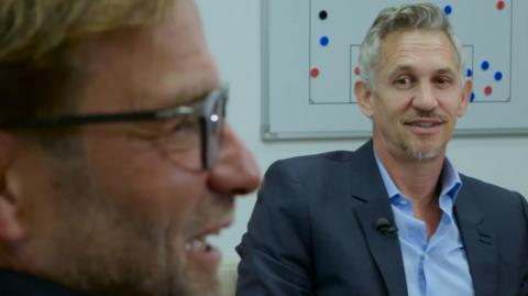 Jurgen Klopp and Gary Lineker