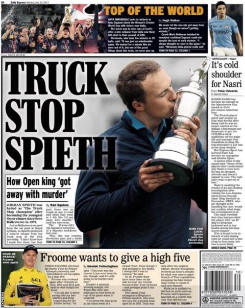 The Express say Manchester City midfielder Samir Nasri has become an outcast on their pre-season tour