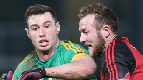 Meath's James Toher and Down's Darren O'Hagan