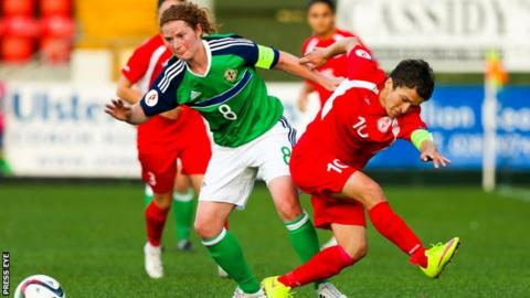 Northern Ireland's Marissa Callaghan in action against Georgia last year