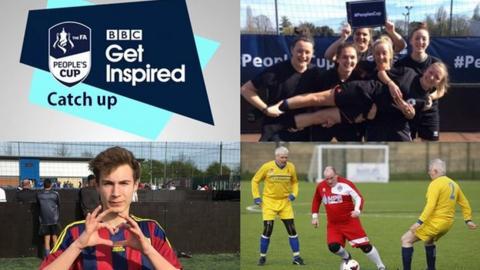 FA People's cup split image