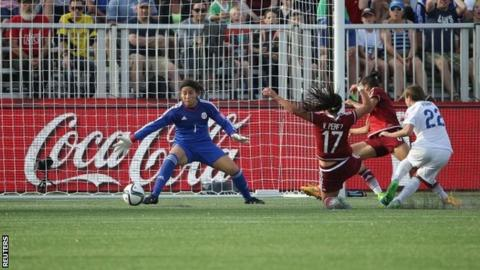 Fran Kirby scores against Mexico