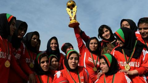 Women footballers in Afghanistan