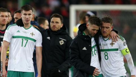 Northern Ireland players at full-time