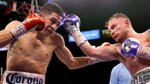 Leo Santa Cruz defeated Carl Frampton in their second fight in January