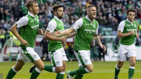 Anthony Stokes celebrates