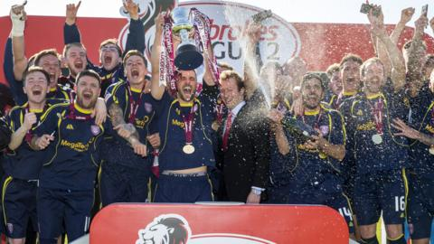 Arbroath won the League Two title last season
