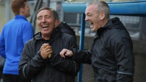 Peterhead boss Jim McInally and assistant manager David Nicholls