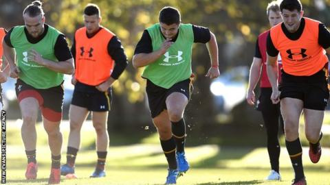 Wales training in New Zealand