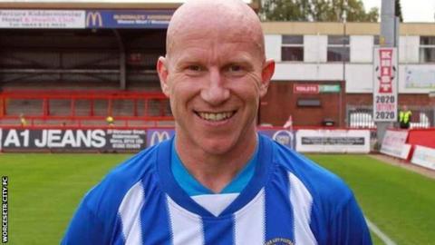 Worcester City striker Lee Hughes