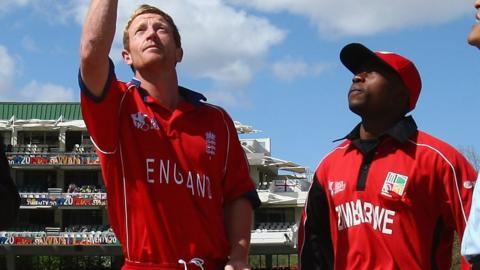 Paul Collingwood and Prosper Utseya