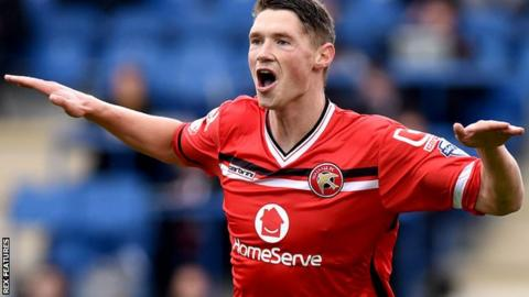 George Evans in action for Walsall