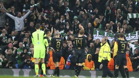 Celtic celebrate at full-time