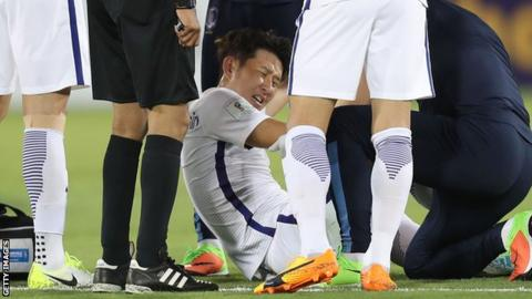 Tottenham winger Son set for arm operation after worldwide injury