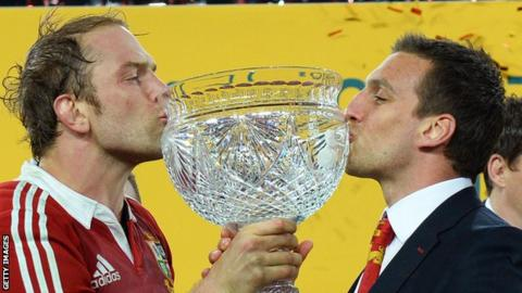 Alun Wyn Jones and Sam Warburton taste Lions success against Australia in 2013