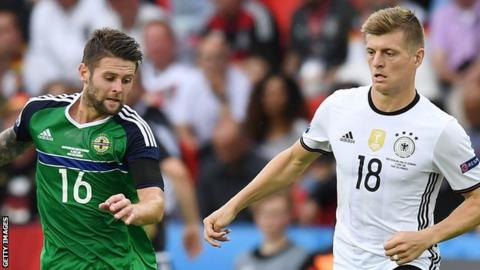 Oliver Norwood and Toni Kroos