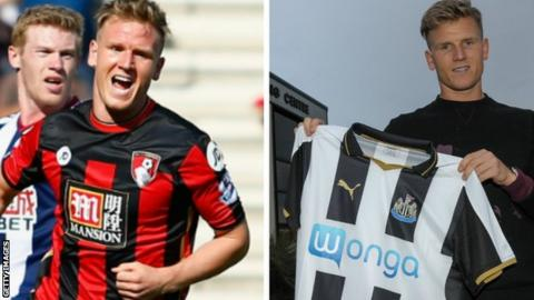 Matt Ritchie scoring his last Bournemouth goal and signing for Newcastle