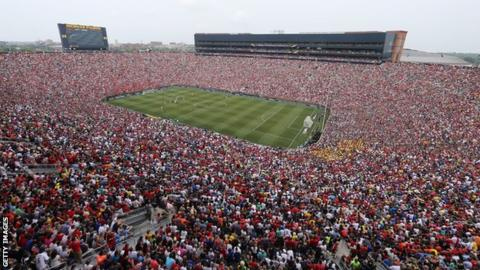 More than 100,000 fans saw Manchester United play Real Madrid in Michigan in 2014