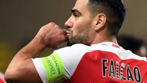 Monaco striker Radamel Falcao