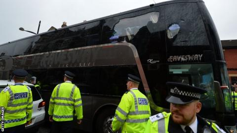 Manchester United's team coach