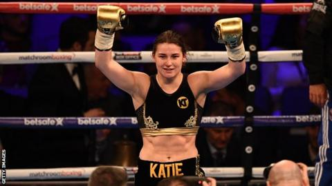 Katie Taylor's upcoming fight at Wembley will be a world title eliminator